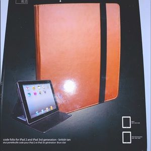 Hex luxe leather ipad folio with storage NWT